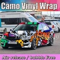 1.52x20 м/30 м стайлинга автомобилей камуфляж автомобилей пленкой Авто наклейки Camo винил фольги автомобильные аксессуары adesivos пленочное покрыт
