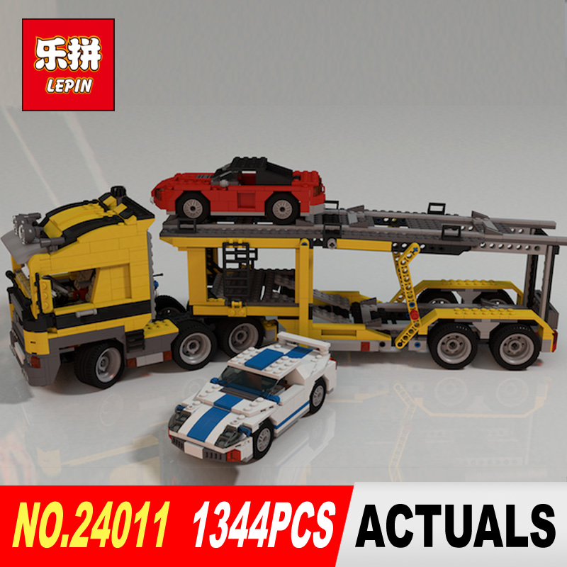 Lepin 24011 1344Pcs Technic Series The Three in One Highway Transport Set Educational Building Blocks Brick Toys Model Gift 675