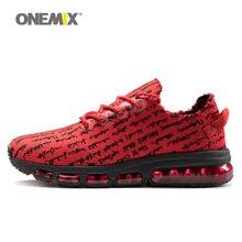 Onemix женская обувь для бега трикотажная сетка вамп Легкие беговые кроссовки Подушка с изображением женщины для бега на открытом воздухе красный золотой белый