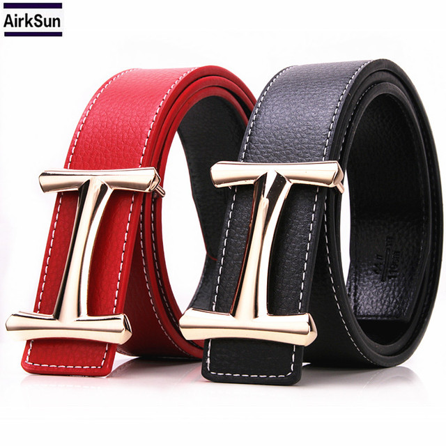 f00458f1b31 2017 New Brand Design H Belts Men s High Quality what fashion Casual  Realistic Leather H belt Buckle Male Pattern belt