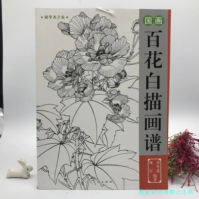 Chinese painting line drawing book Color pencil Flower Birds and insect coloring book for adults children Chinese painting line drawing book Color pencil Flower Birds and insect coloring book for adults children