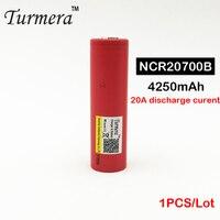 NCR20700B 20700 4250 mAh pin tỷ lệ cao pin di động 20A 20700 cho các công cụ điện và vape mod 1 cái