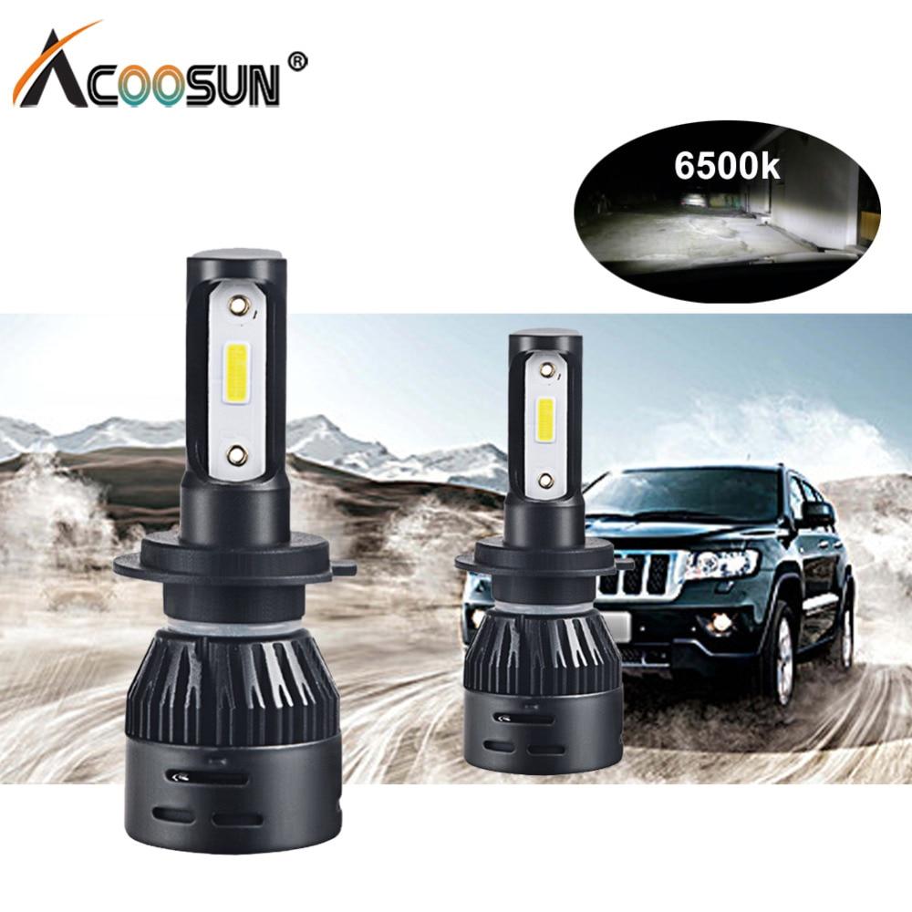 Mini H4 H7 Led Auto Scheinwerfer Lampen 12 v 72 watt H1 H8 H9 H11 Led Auto Lampada 12000Lm 9005 HB3 9006 HB4 DOB Chips Led Nebel licht 6500 karat