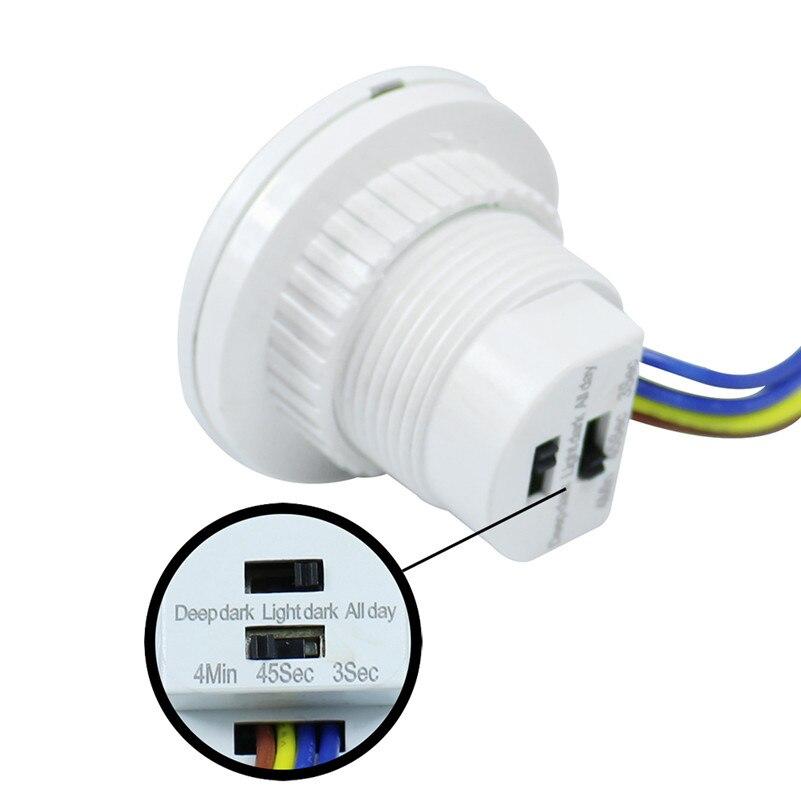 Nouvelle Maison En Plein Air Lumière Commutateur PIR Infrarouge Ray Motion Sensor Détecteur de Commutation Nuit Temps Retard Réglable Mode