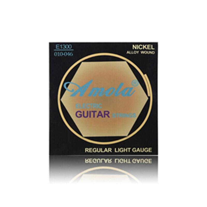 Original Amola E1300 010 Regular Light Gauge Nickel Alloy Wound Electric Guitar Strings 3 sets