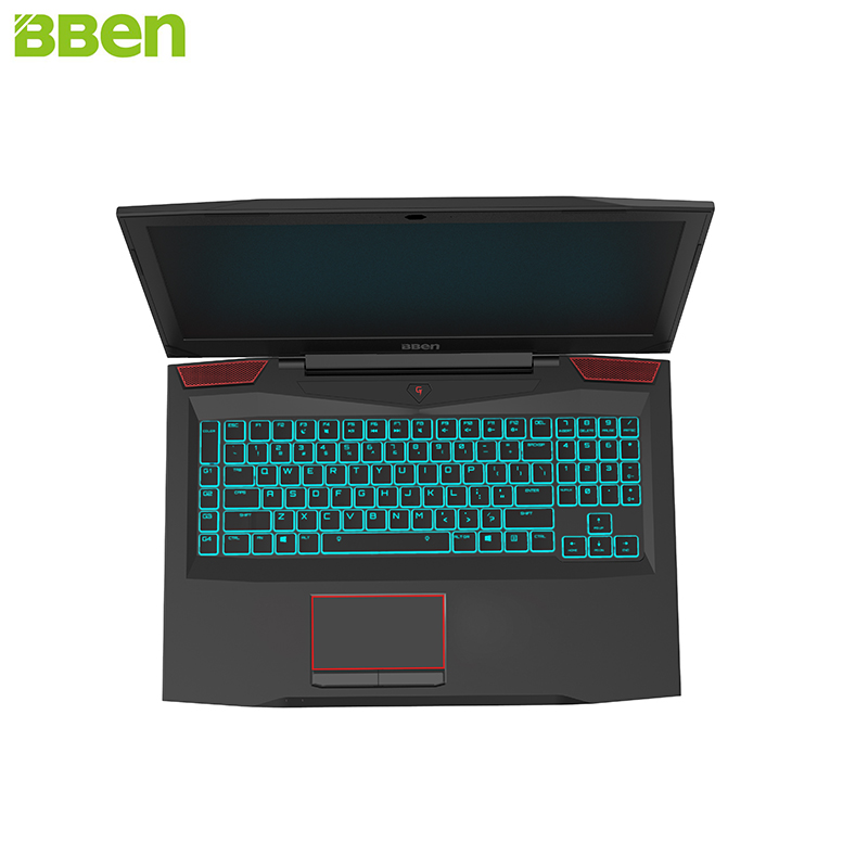 BBEN G17 Laptop Gaming Computer 32G RAM 256G SSD 1T HDD Intel I7 7700HQ GDDR5 NVIDIA GTX1060 Windows 10 RGB Mechanical Keyboard