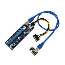Mini PCI E PCI Express 1x ila 16x genişletici yükseltici video harici grafik kartı adaptörü 6Pin güç kablosu için Bitcoin BTC madencilik