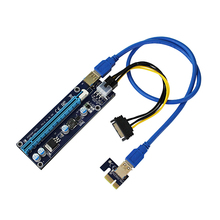 Mini PCI E to PCI Express 1x to 16x Extender Riser video external graphics Card Adapter 6Pin Power Cable for Bitcoin BTC Mining