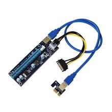 Mini PCI E zu PCI Express 1x zu 16x Extender Riser video externe grafikkarte Adapter 6Pin Power Kabel für Bitcoin BTC Bergbau