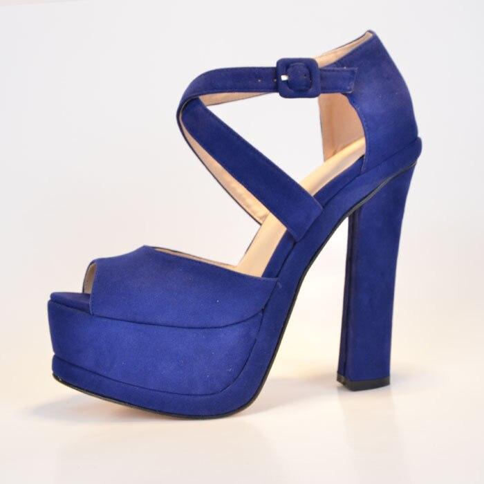 Online Get Cheap Royal Blue Suede Heels -Aliexpress.com | Alibaba ...