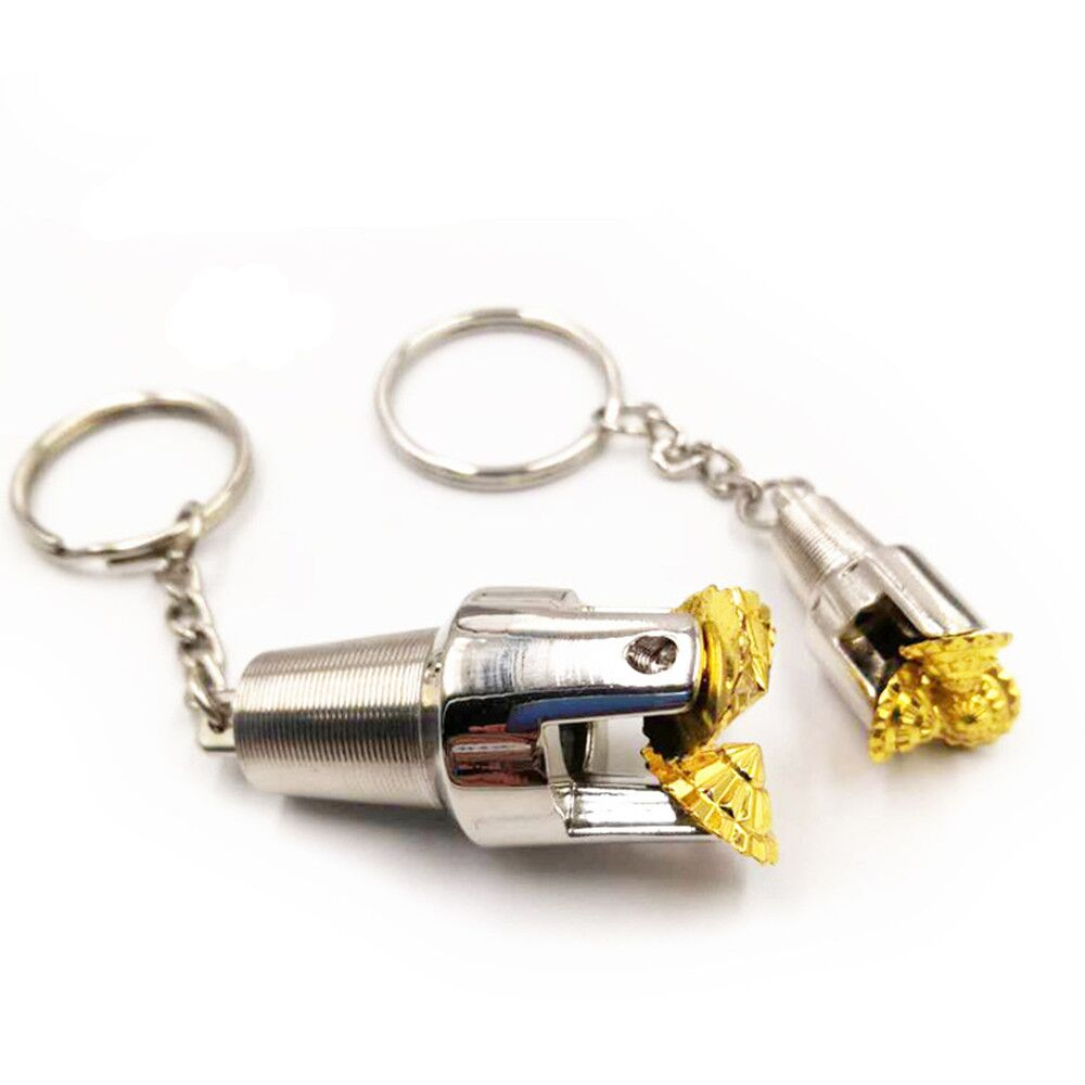 Schlüssel kette Folsom Ölfeld Tricone drei kegel dreh bohrer anhänger öl gut ölfeld schmuck geschenke souvenirs keychain anhänger