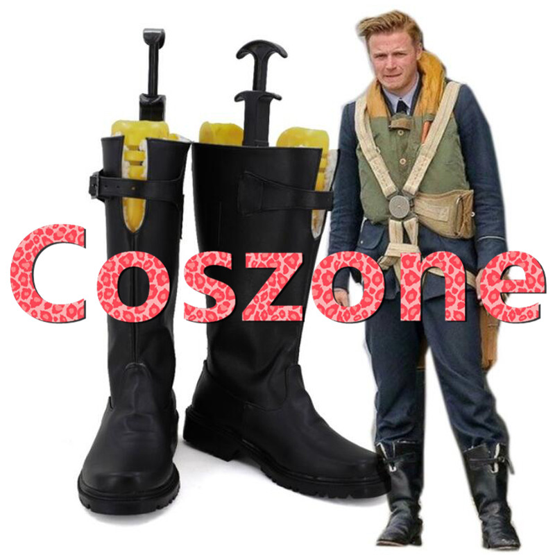 Dunkirk Collins Cosplay Shoes Boots Halloween Cosplay Costume Accessories