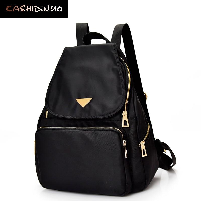 KASHIDINUO Brand Vintage Women nylon Backpacks for Teenage Girls School Bag Female Travel Shoulder Bag Ladies Back Bags mochila