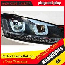 Auto Clud For VW GOL headlights U angel eyes parking 2011-2015 For VW GOL LED light bar DRL Q5 bi xenon lens h7 xenon car stylin