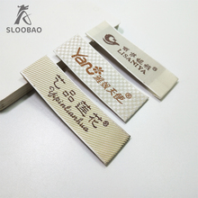 Wholesale customized garment labels/woven labels/main label/embroidered tag loop fold 1000pcs