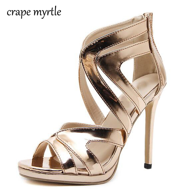 82a24523998a womens pump gold sandals stilettos shoes strappy sandals high heels sexy  pumps ankle strap heels wedding sandals heels YMA127