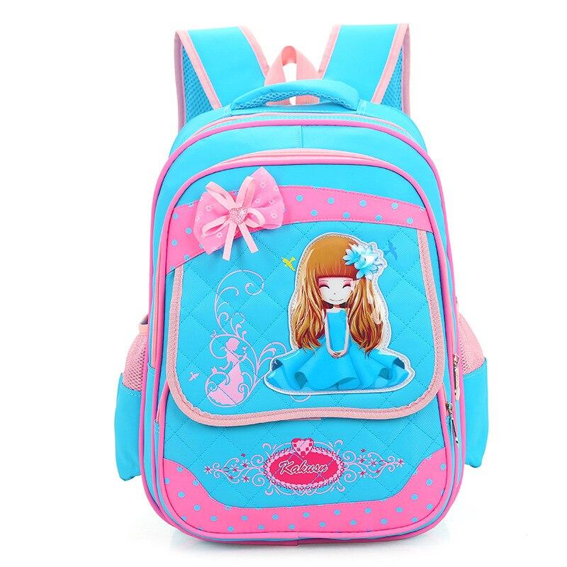 Girls Primary School Backpack Kids Princess Girl 3-6 Grade Pink Cute Bowknot Backpack Daypack Mochila Bag