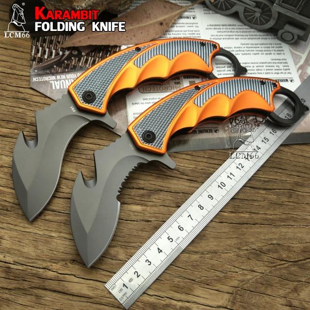 LCM66 Karambit Folding Knife, Fox claw knife csgo Gift Tactical Pocket Knife,outdoor camping jungle survival battle self defense