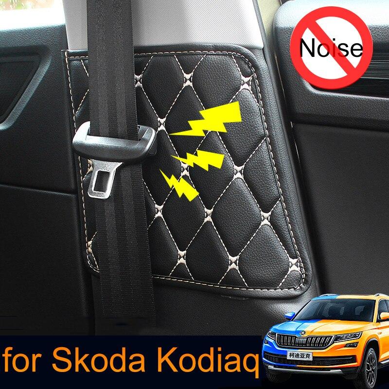 Cinto de segurança do carro almofada protetora esteira acidente para skoda kodiaq 2017 2018 estilo do carro auto acessórios interiores