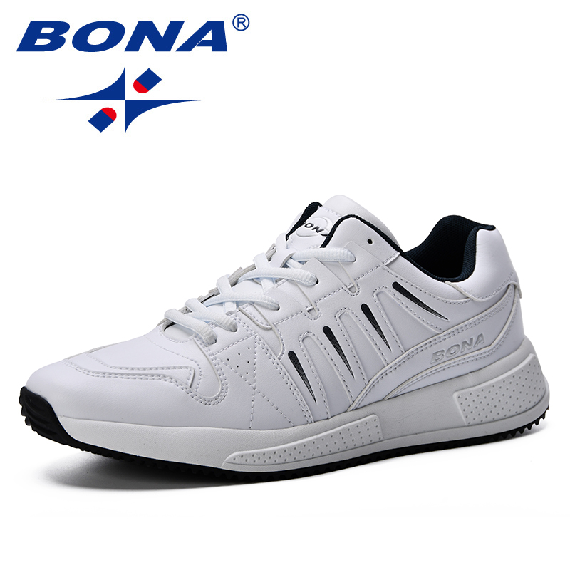 BONA New Style Spring Summer Lightweight Shoes Fashion Men Breathable Sneakers Lovers Lace Up Flats Shoes