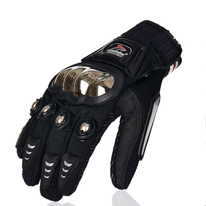 Summer motorcycle gloves stainless steel wrestling cross country racing motorcycle locomotive riding wind gloves luvas moto