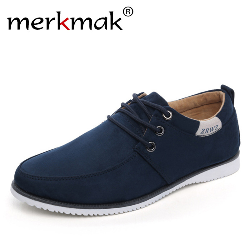 New 2017 Autumn Spring Men Shoes Casual Leisure Male Footwear Fashion Men's Flats Suede Leather Flat Shoes Men Comfortable Shoe