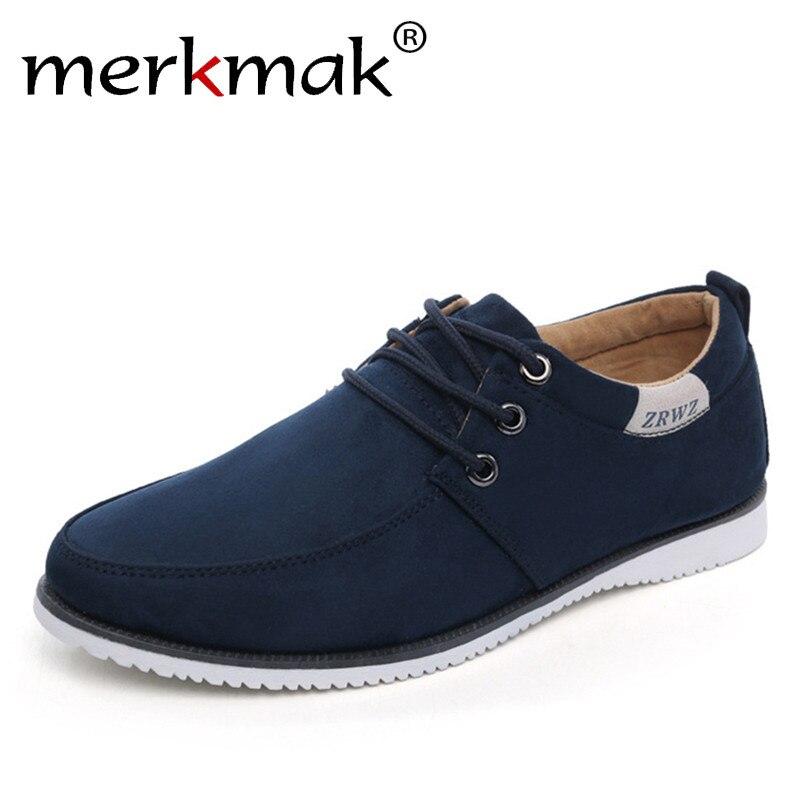 Nuevo 2018 otoño primavera hombres zapatos Casual ocio calzado de moda para hombres pisos gamuza zapatos planos hombres cómodo zapato