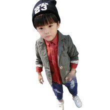 Gentleman Boys Toddlers Cotton Suit Solid Blazer Kids Jacket Coat Fall Overcoat 2-6Y