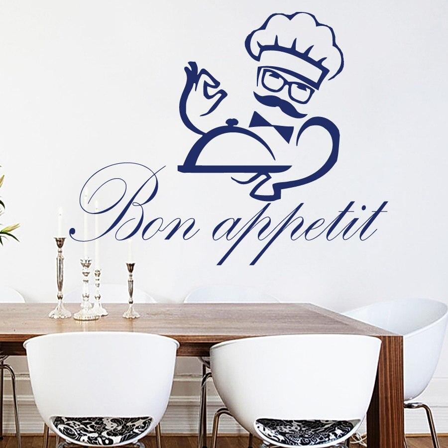 Autocollants Muraux Cuisine Restaurant pots casseroles Art Décalques Vinyle Home Room Decor