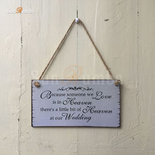 1pcs Rustic Wedding Decor Wooden Hanging Sign Decoration Signs Mariage Party Decorations for Photo Booth Props