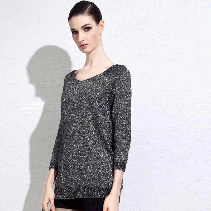autumn grey women sweater 5