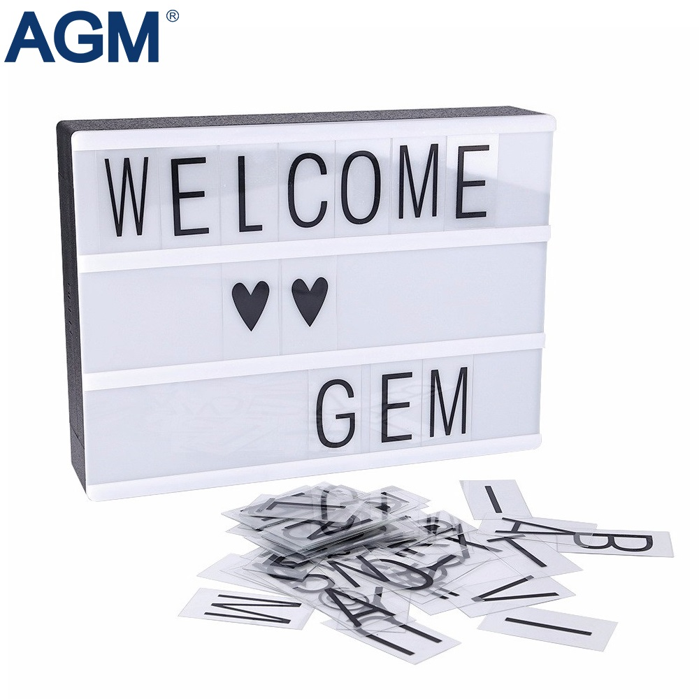 AGM Light Box LED Night Lights A4 DIY Cinema Lightbox USB Powered A5 Alphabet Symbole Letters Table Lamp For Wedding Decoration diy cinematic lightbox led night light box modern table desk lamp a4 size letters number battery usb powered home decor iy303206 page 5
