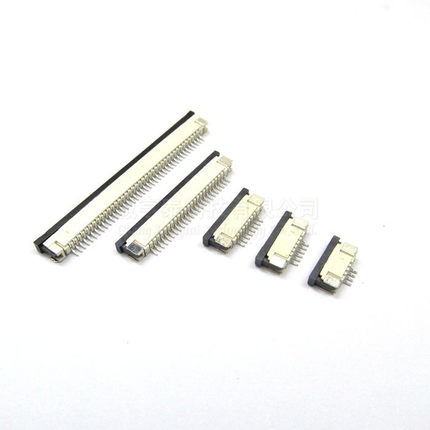 10pcs FFC / FPC connector 1.0 mm 4 Pin 5 6 7 8 10 12 14 16 18 20 22 24 26 18 30 P Bottom Contact Right angle SMD / SMT ZIF цены