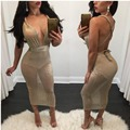 2017 Women Sexy Fashion Spring style Vestidos Dresses LadY see through Club Evening Party Bodycon bandage Bodysuits Mesh DRESS