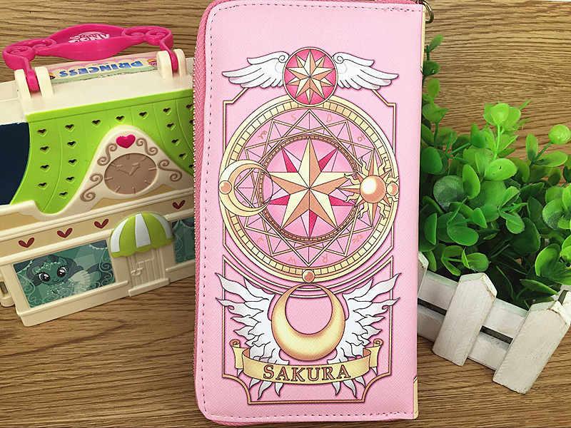 Новый Косплей карта аниме Captor Sakura женский кошелек, кредитница держатели конверт сумка мультфильм Длинные кошельки с Zippe