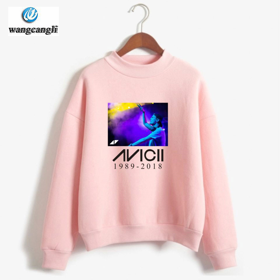 DJ Avicii R.I.P. Turtleneck Hoodies Sweatshirt Women/Men Harajuku Anime Hoodie Fashion Print Tracksuit Plus Size 4XL