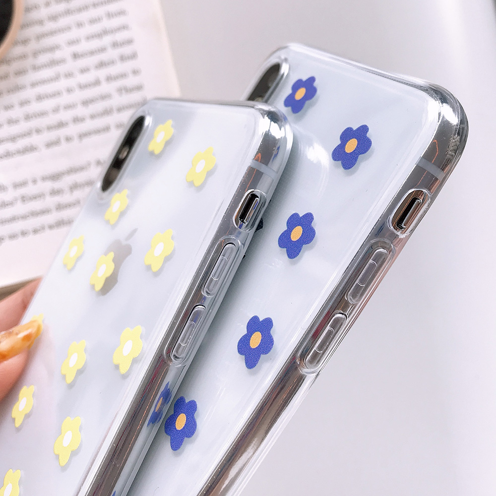 KIPX1117_5_JONSNOW Transparent Flowers Pattern Phone Case for iPhone X XR XS Max 8 Plus 7 6P 6S Cases Soft Silicone Cover Capa Coque Fundas