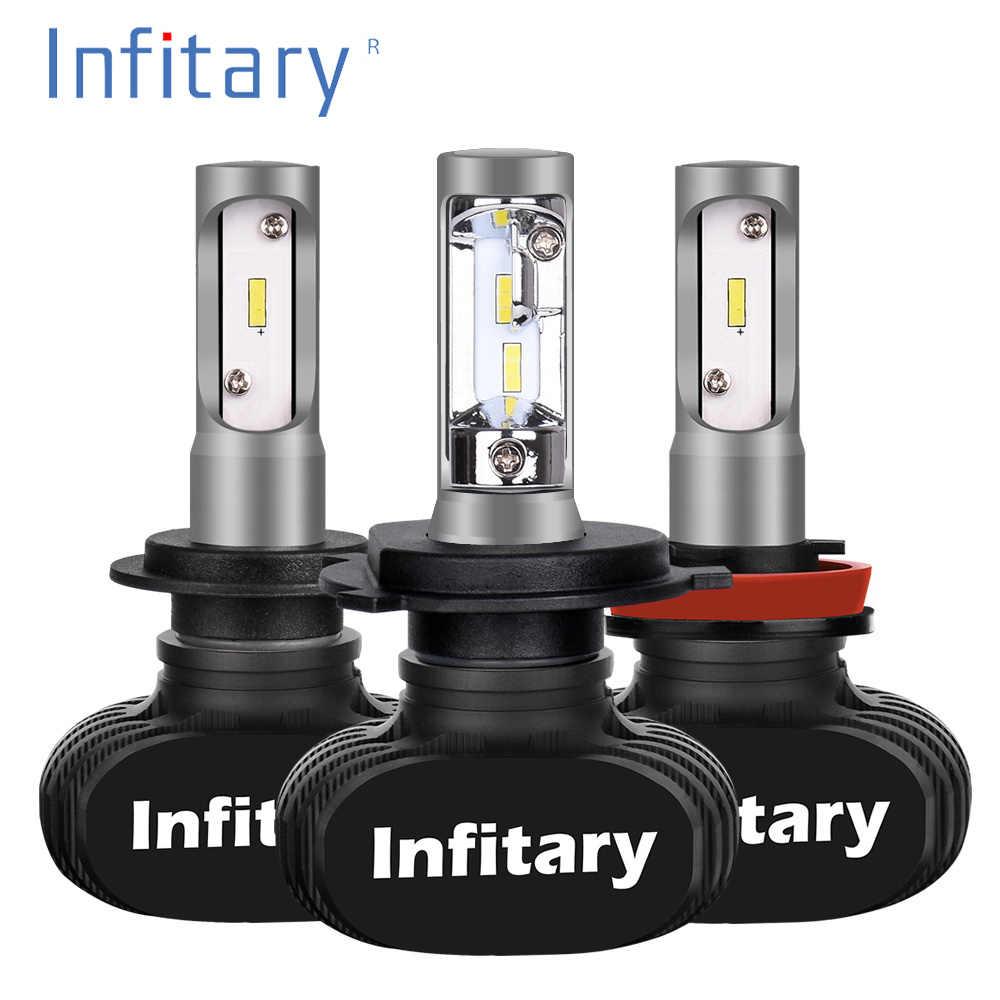 2Pcs H7 LED H4 Auto Car Headlight 9005 9006 H3 H13 H8 880 H27 9004 9007 H11 LED H1 S1 50W 8000LM 6500K Automobile Bulb CSP Lamp