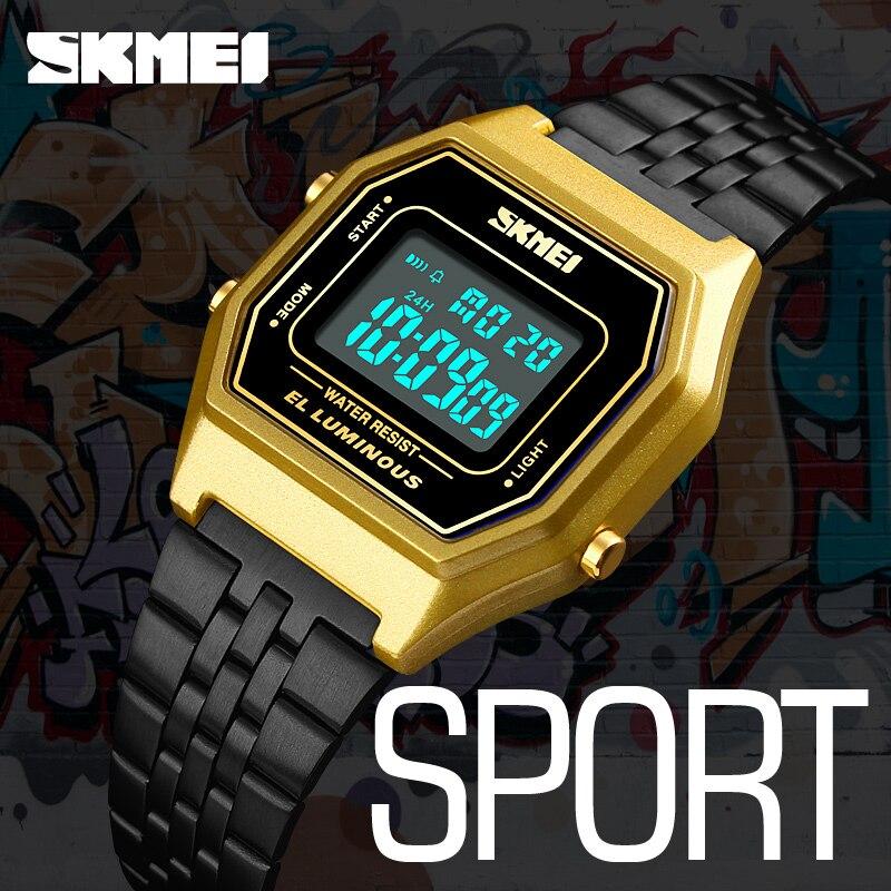 лучшая цена Men Sports Watches Waterproof Mens Watches Top Brand Luxury Male Electronic Digital Watch Men Clock Relogio Masculino SKMEI 2018