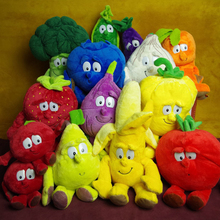 S001 Hot sale Best children gift Fruits Vegetables stuffed Plush Doll Toy 25*35CM banana cauliflower blueberry 1pcs