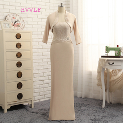 Plus size 2017 mother of the bride dresses sheath floor length lace with jacket wedding party.jpg 250x250