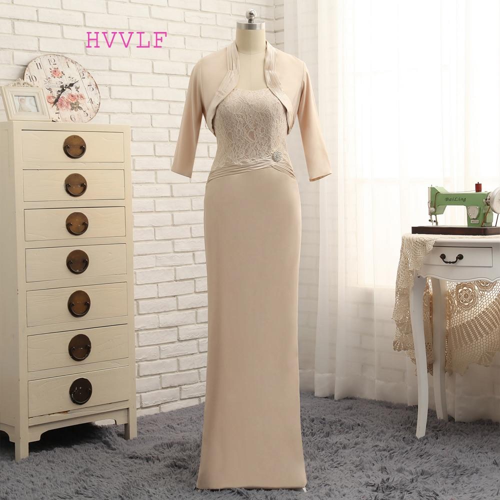 Plius dydis 2019 Nuotakos motinos suknelė Apvalkalo grindų ilgis - Suknelės vestuvėms - Nuotrauka 1
