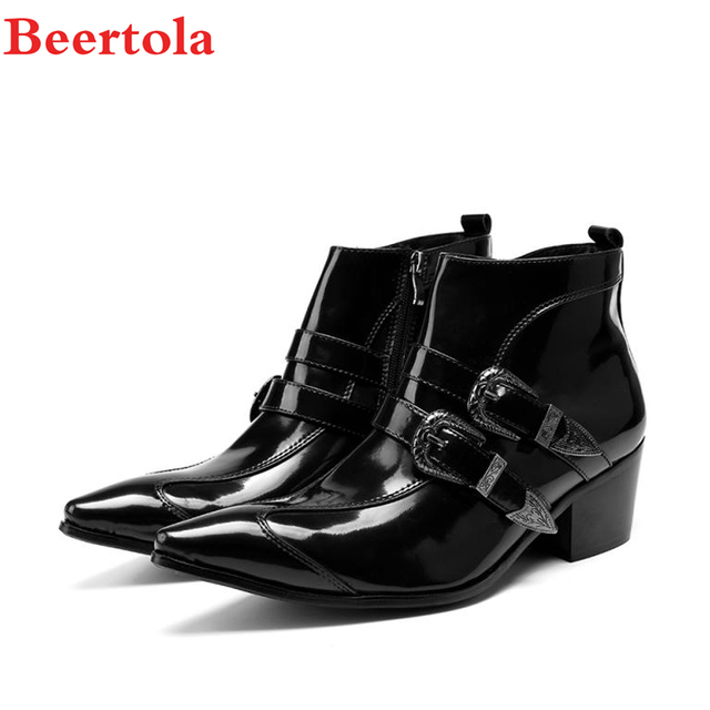 Buckles Pointed Toe Double Zipper Short Boots - White 41 shopping online cheap sale pictures 5dV2VYBr