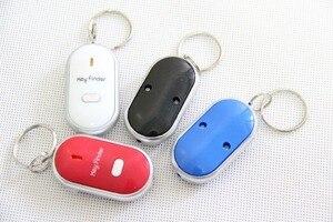 Party Favor dźwięk gwizdka sterowania LED lokalizator kluczy lokalizator Anti-Lost brelok do kluczy lokalizator de Chave Chaveiro 500 sztuk