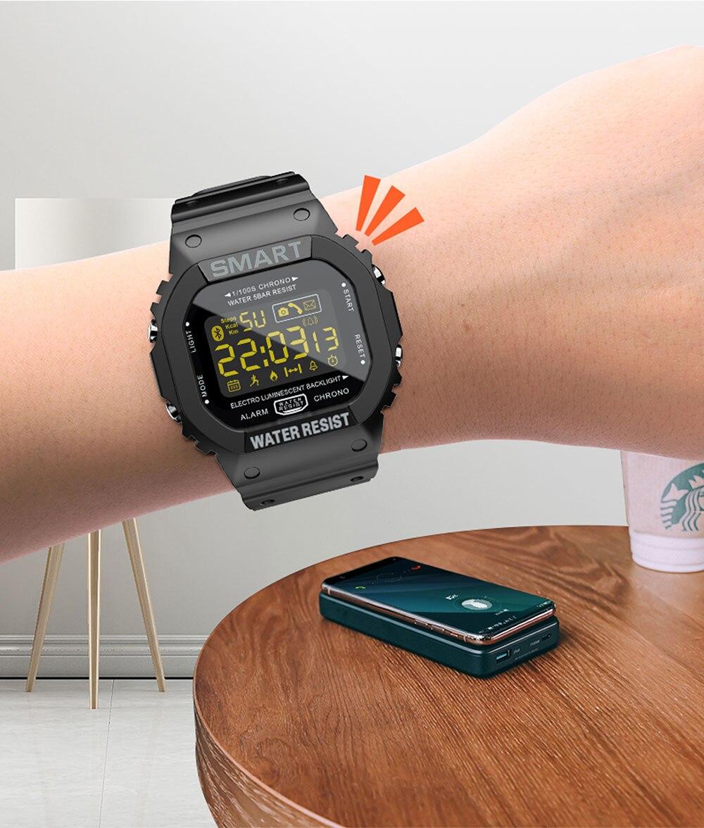 8  Montre intelligente numérique pour ios téléphone Android