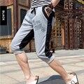 2017 Novos Homens Shorts Soltos Bezerro-Comprimento Calças Basculador Casuais Low Crotch Harem Sweatpants