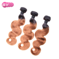 BY Brazilian Pre Colored Body Wave Raw Hair 1B 30 Color One Piece Remy Human Hair