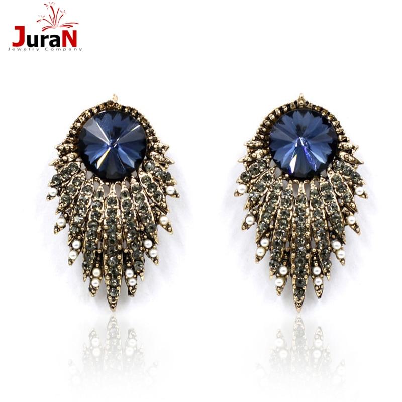 JURAN 2018 Mode Frauen Ohrstecker Shourouk Ohrring Blase Kristall Vintage Korean Ohrringe Für Frauen Schmuck Großhandel E3303