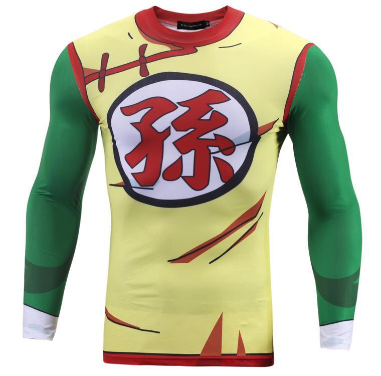 Men tops 3d cosplay son gohan long sleeved straitjacket for Most popular dress shirts