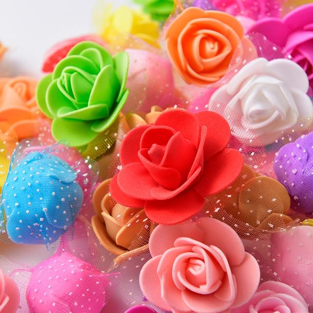 50pcs Wholesale 35cm Pe Foam Rose Artificial Silk Flower Heads Use
